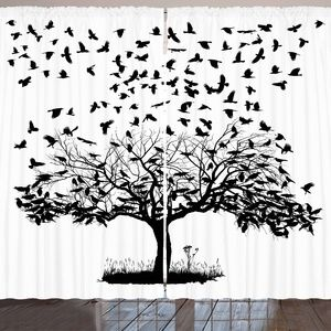 "Curtains 108""W x 63""L Tree Birds Backdrop 54140"